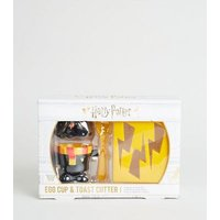 Men's Yellow Harry Potter Egg Cup and Toast Cutter Set New Look