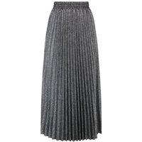 Grey Glitter Pleated Midi Skirt New Look