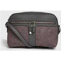 Dark Grey Zip Camera Bag New Look Vegan
