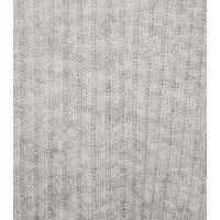 Pale Grey V Neck Longline Jumper New Look