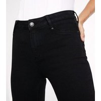 Petite Black High Waist Super Skinny Hallie Jeans New Look