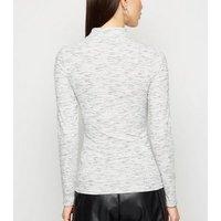 Pale Grey Marl Turtleneck Top New Look