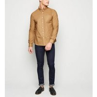 Tan Woven Long Sleeve Oxford Shirt New Look