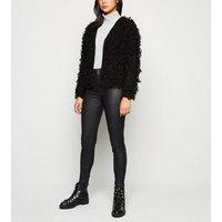Black Loop Knit Cardigan New Look