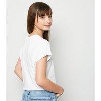 Girls White Smile Slogan T-Shirt New Look