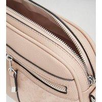 Pale Pink Double Zip Camera Bag New Look Vegan
