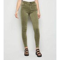Khaki 'Lift & Shape' Skinny Jenna Jeans New Look