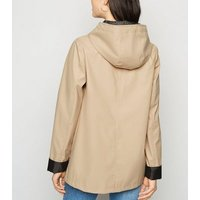 Camel Coated Spot Lined Mac New Look