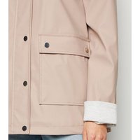 Pale Pink Coated Mac New Look