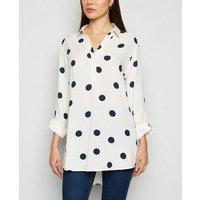 Cream Polka Dot Overhead Shirt New Look