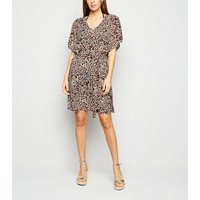 Brown Leopard Print Jersey Kaftan New Look