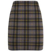 Yellow Check Tube Mini Skirt New Look