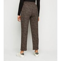 Brown Animal Print Soft Touch Joggers New Look