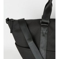 Black Sports Holdall Bag New Look
