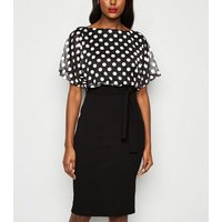 Missfiga Polka Dot 2 in 1 Midi Dress New Look