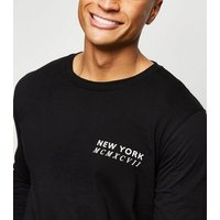 Black New York Long Sleeve T-Shirt New Look