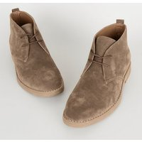 Tan Suedette Lace Up Desert Boots New Look Vegan