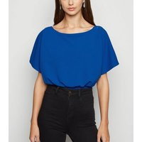 Missfiga Blue Batwing Bodysuit New Look