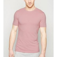 Mid Pink Muscle Fit Cotton T-Shirt New Look