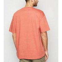 Orange Crew Oversized Heavy Cotton T-Shirt New Look