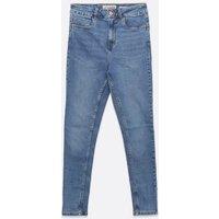 Petite Blue Lift and Shape Jenna Skinny Jeans New Look