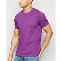 Purple Crew Neck T-Shirt New Look