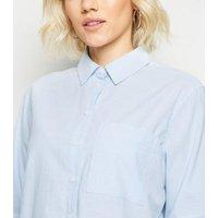 Petite Blue Stripe Long Sleeve Shirt New Look
