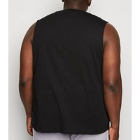 Men's Plus Size Black Tank Top New Look