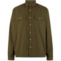 Khaki Ripstop Pocket Long Sleeve Light Jacket New Look