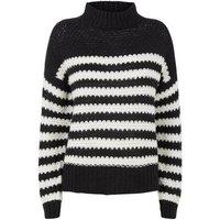 Urban Bliss Black Stripe Waffle Knit Jumper New Look