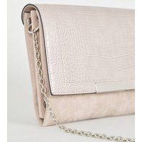 Grey Suedette Chain Shoulder Bag New Look Vegan
