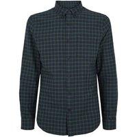 Dark Green Check Cotton Shirt New Look