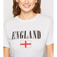 White England Flag Rugby T-Shirt New Look
