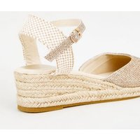 Gold Glitter 2 Part Espadrille Wedges New Look Vegan