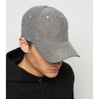 Pale Grey Chambray Cap New Look