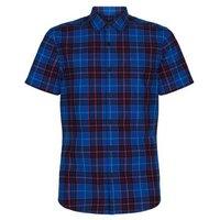 Blue Check Short Sleeve Shirt New Look