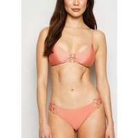 Pale Pink Double Circle Hipster Bikini Bottoms New Look