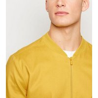 Yellow Classic Bomber Jacket New Look