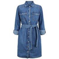 Blue Long Sleeve Denim Dress New Look