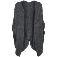 Urban Bliss Grey Cable Knit Cardigan New Look