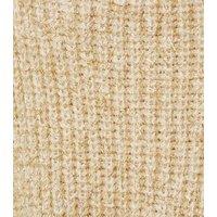 Urban Bliss Gold Metallic Fluffy Knit Jumper New Look
