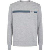 Jack & Jones Pale Grey Stripe Crew Sweatshirt New Look