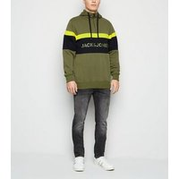 Jack & Jones Olive Zip Neck Sweatshirt New Look