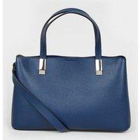 Navy Leather-Look Mini Tote Bag New Look Vegan