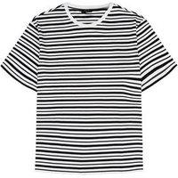Plus Size Black Stripe Organic Cotton T-Shirt New Look