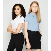Girls Pale Blue Polo Shirt New Look