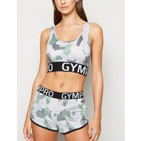 GymPro White Camo Sports Shorts New Look