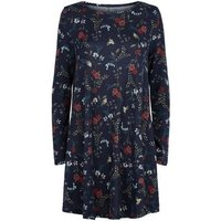 Apricot Blue Vines and Birds Swing Dress New Look