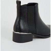 Black Pointed Chelsea Boots New Look Vegan