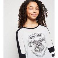 Girls White Hogwarts Harry Potter Slogan T-Shirt New Look
